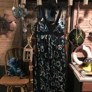 Studio Connection 60's Flower Print Dress Size 14